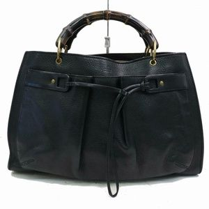 Authentic Gucci Hand Bag Black Leather 172585